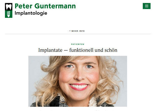 Screenshot der Webseite www.implantate-olpe.de